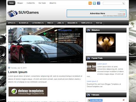 SUVGames Blogger Theme