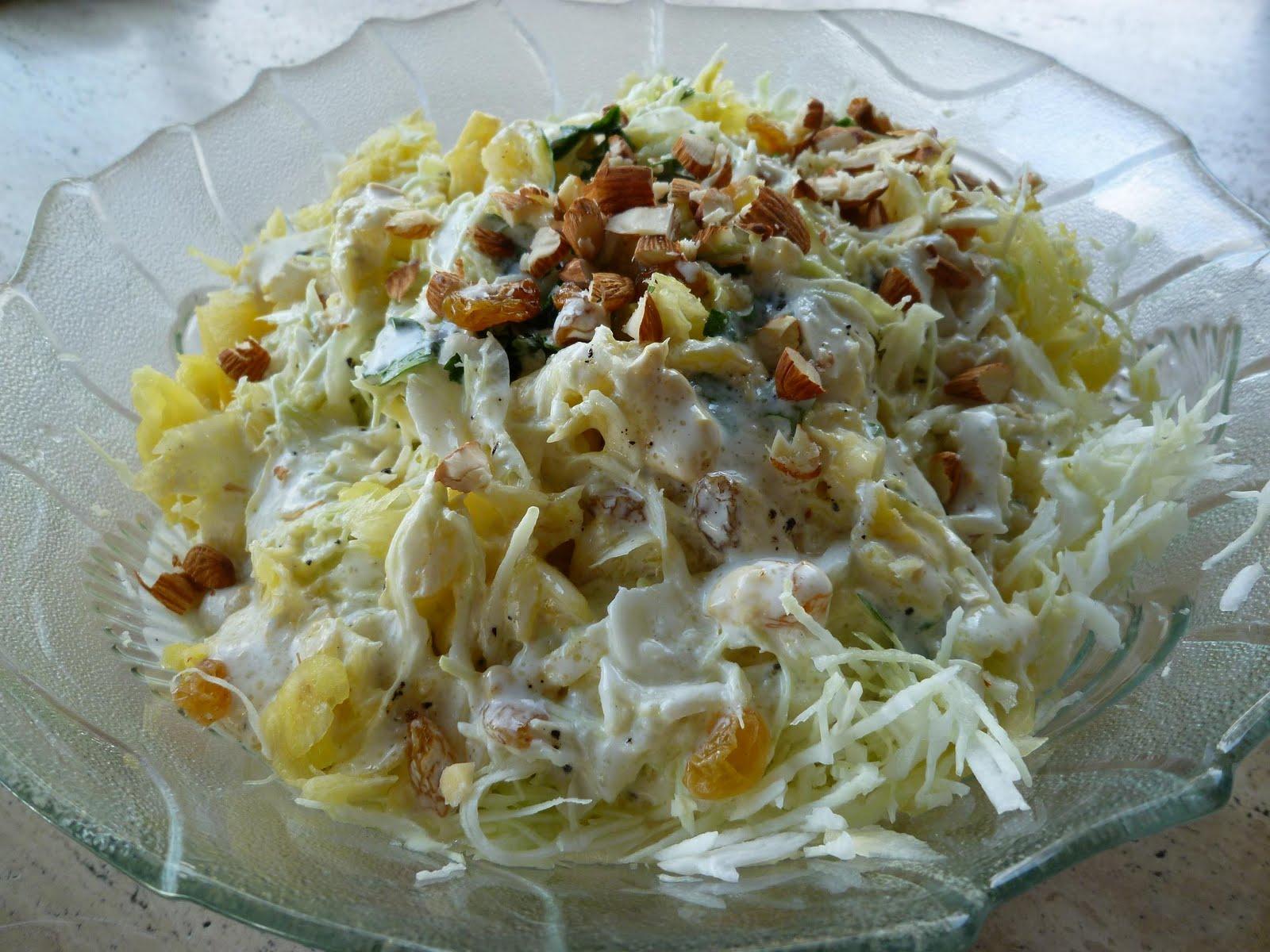 Saveurs et Expériences : Salade de Chou Blanc & Ananas