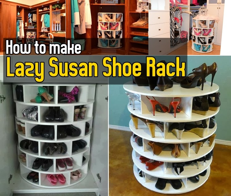 Diy How To Make Lazy Susan Shoe Rack Diy Craft Projects