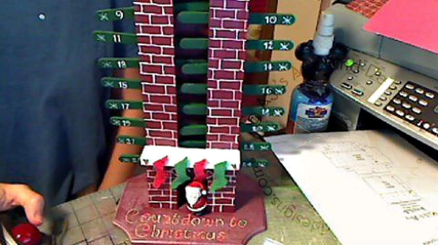 Countdown Santa Chimney Pattern Only Took 2 Years
