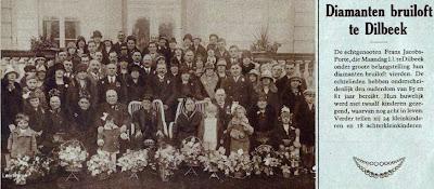 Familie Frans Jacobs-Porte uit Dilbeek hadden ooit 12 kinderen.