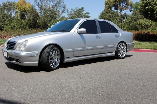 Mercedes benz e55 amg w210 on r19 benztuning for Mercedes benz tuning parts