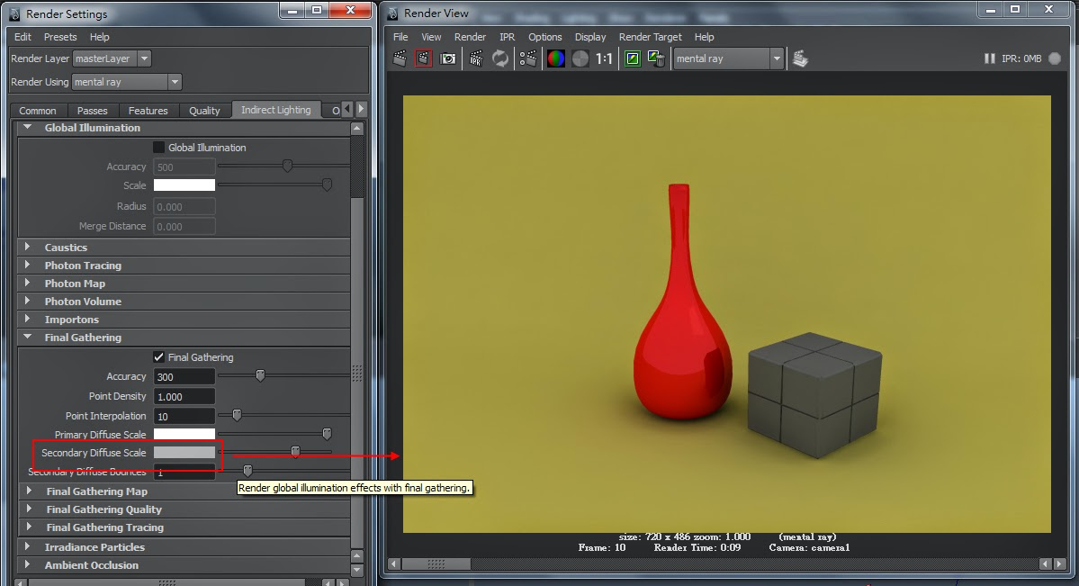 FG Render Setting in Maya 13