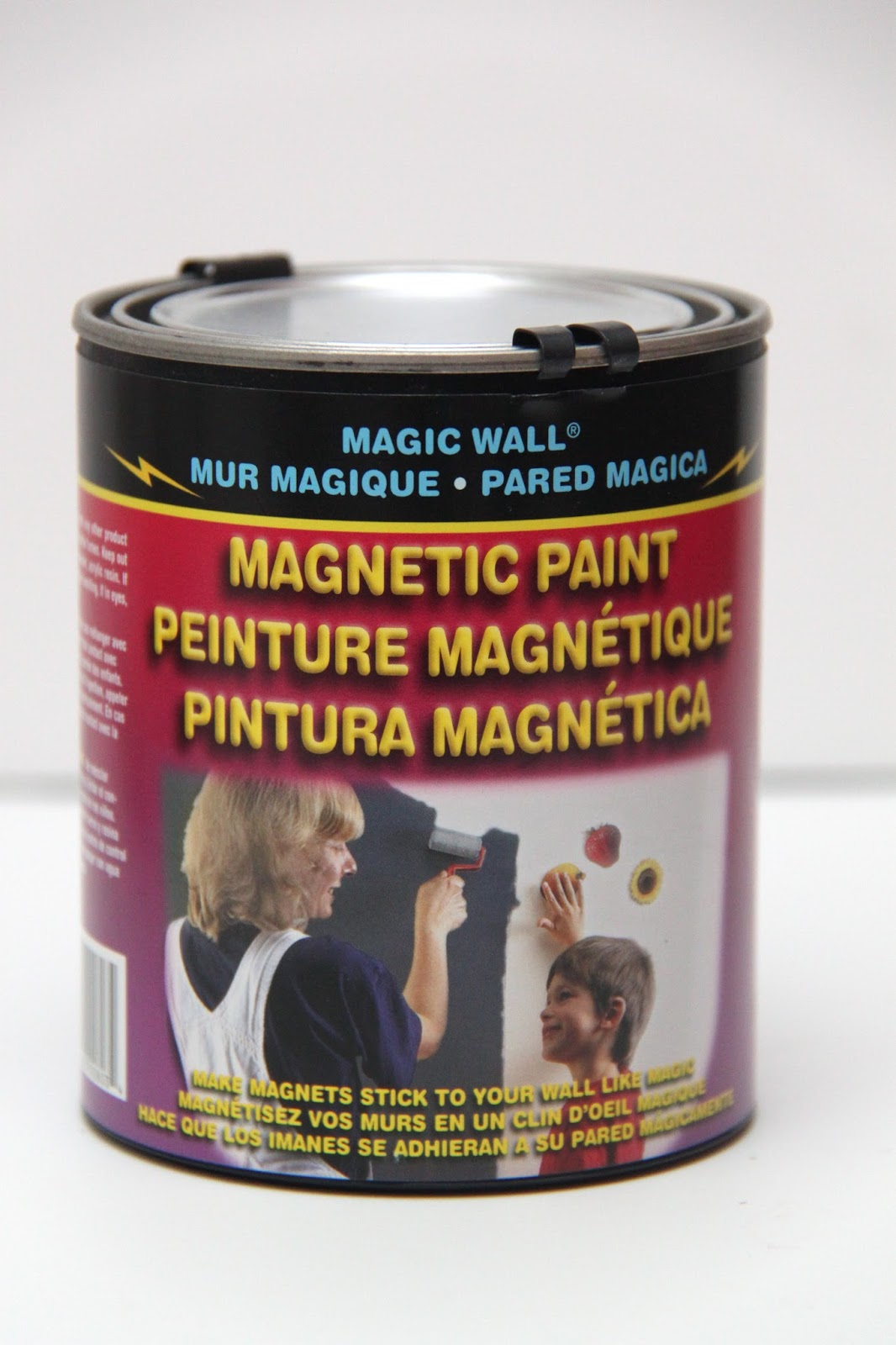 this small can of magnetic paint at michaels found in the spray paint. Black Bedroom Furniture Sets. Home Design Ideas