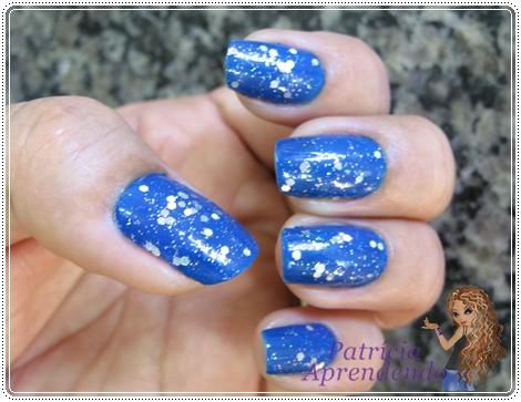 Ludurana Azul + misturinha glitter