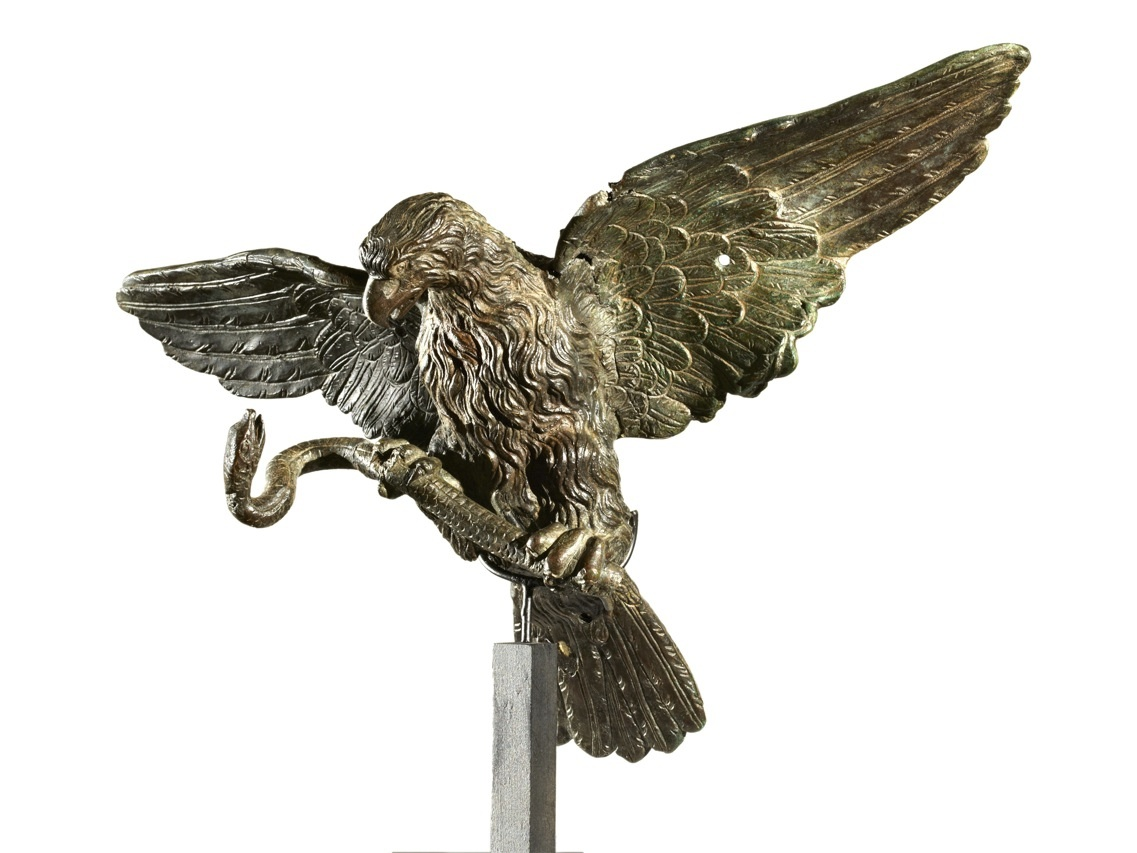 Zeus Eagle Symbol The eagle cleaned and examined