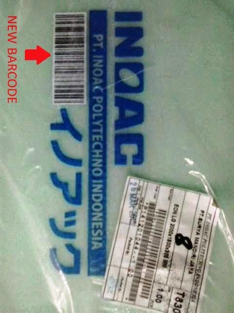 barcode dan cap inoac asli