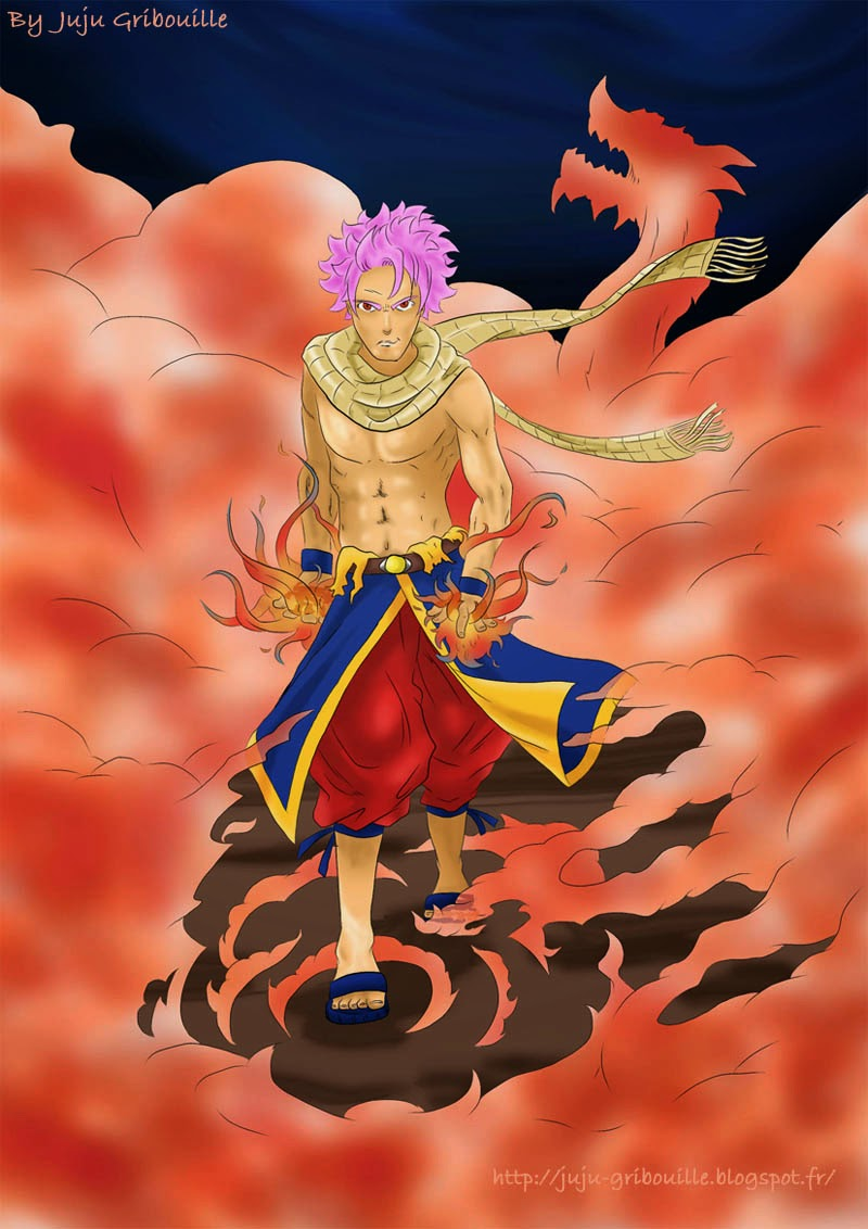 Fanart Fairy Tail: Natsu is on fire (by Juju Gribouille)