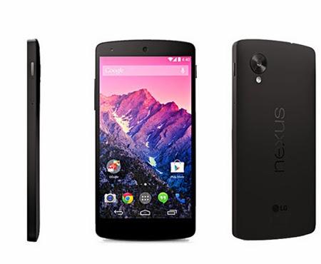 LG smartphone Nexus 5 4G LTE Noir