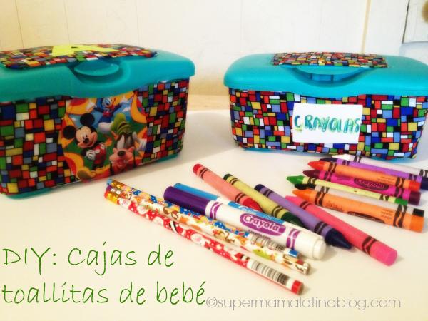 Diy cajas de toallitas de beb s reutilizalas para - Cajas decorativas para almacenar ...