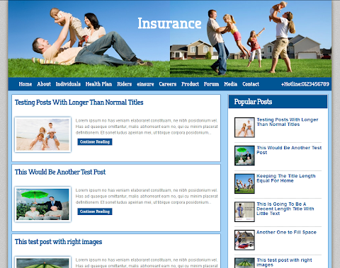 Insurance Co Blogger Theme