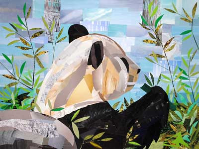 Fine Dining for Pandas by collage artist Megan Coyle