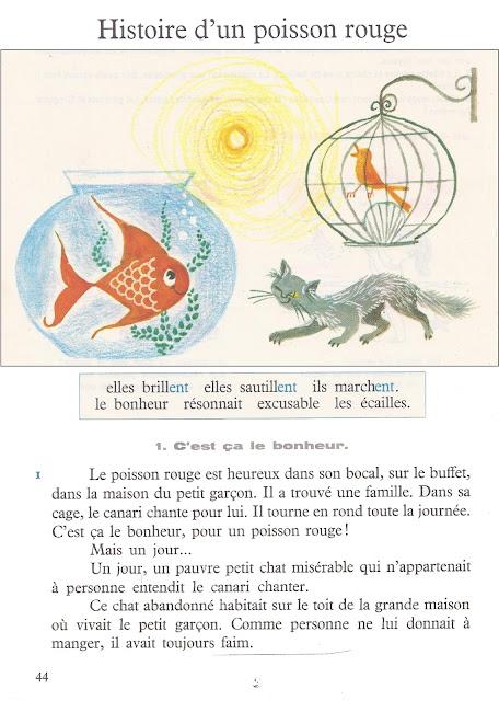 Histoire d 39 un poisson rouge r mauge lire et parler ce1 for Achat d un poisson rouge