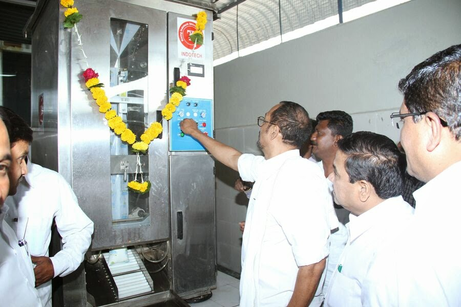 Inauguration of Milk Processing Plant / Automated Dairy Plant  Installed by Indotech Industrial Solutions Pvt. Ltd. Pune