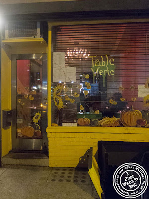 Image of Entrance of Table Verte in the East Village, NYC, New York