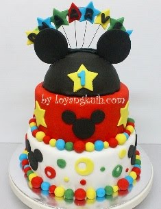 Fondant Birthday Cake
