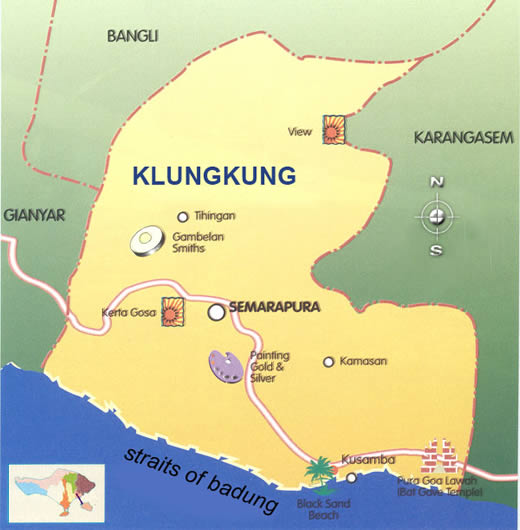 Detail Semarapura Klungkung Location Map for Travelers,Location Map of Semarapura Klungkung,Semarapura Klungkung Accommodation Destinations Attractions Hotels Map