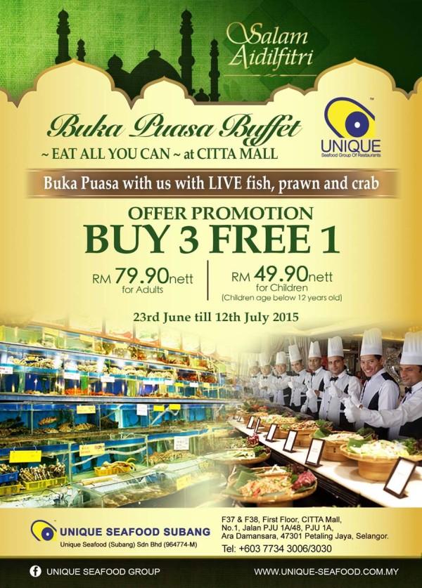 Ramadan Seafood Buffet @ Unique Seafood Subang, Citta Mall