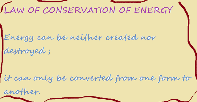 Law of conservation of energy and the law of entropy for Facts about energy conservation