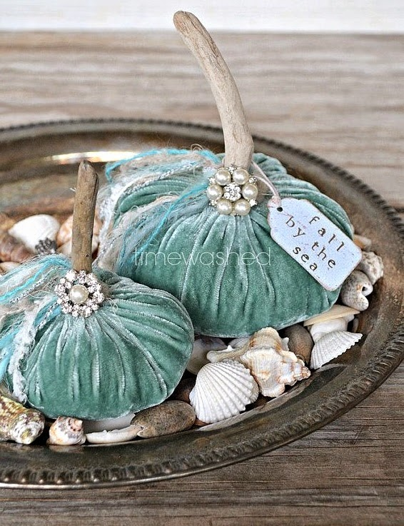no sew fabric pumpkins