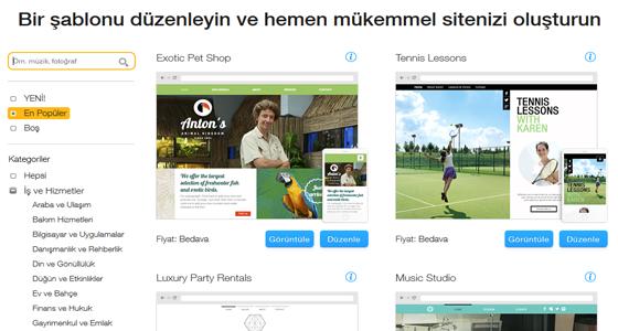 Wix.com ile Birbirinden Güzel Siteler Kurabilirsiniz Hemde Ücretsiz
