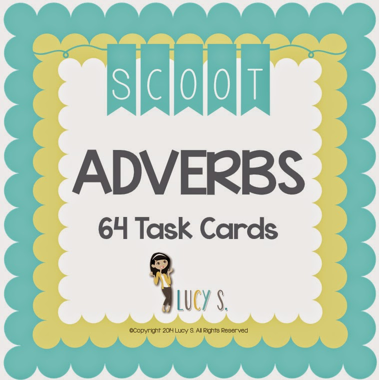 Adverbs SCOOT - 64 Task Cards