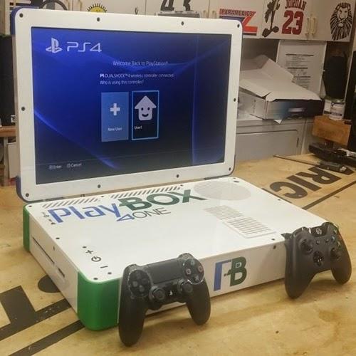 Playbox combina PlayStation 4 e Xbox One em um único notebook