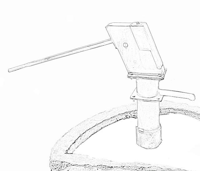 hand pump sketch