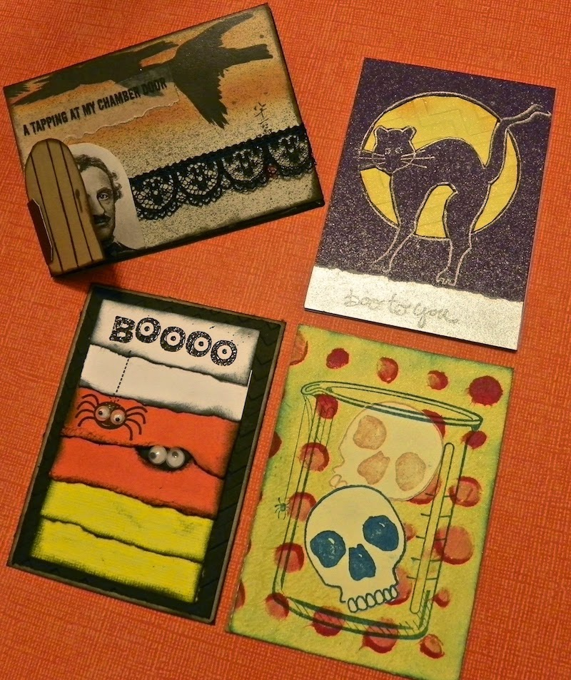 halloween artist trading cards