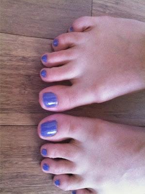 Painted Toenails Purple