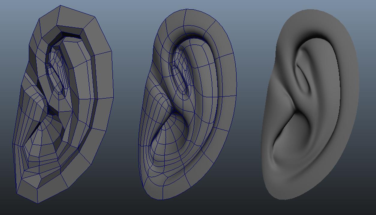 Ear Modeling Example Jpg 1254 215 719 3d Modeling Pinterest