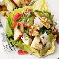 Weight Loss Recipes : Chopped Chicken Salad With Apples And Walnuts
