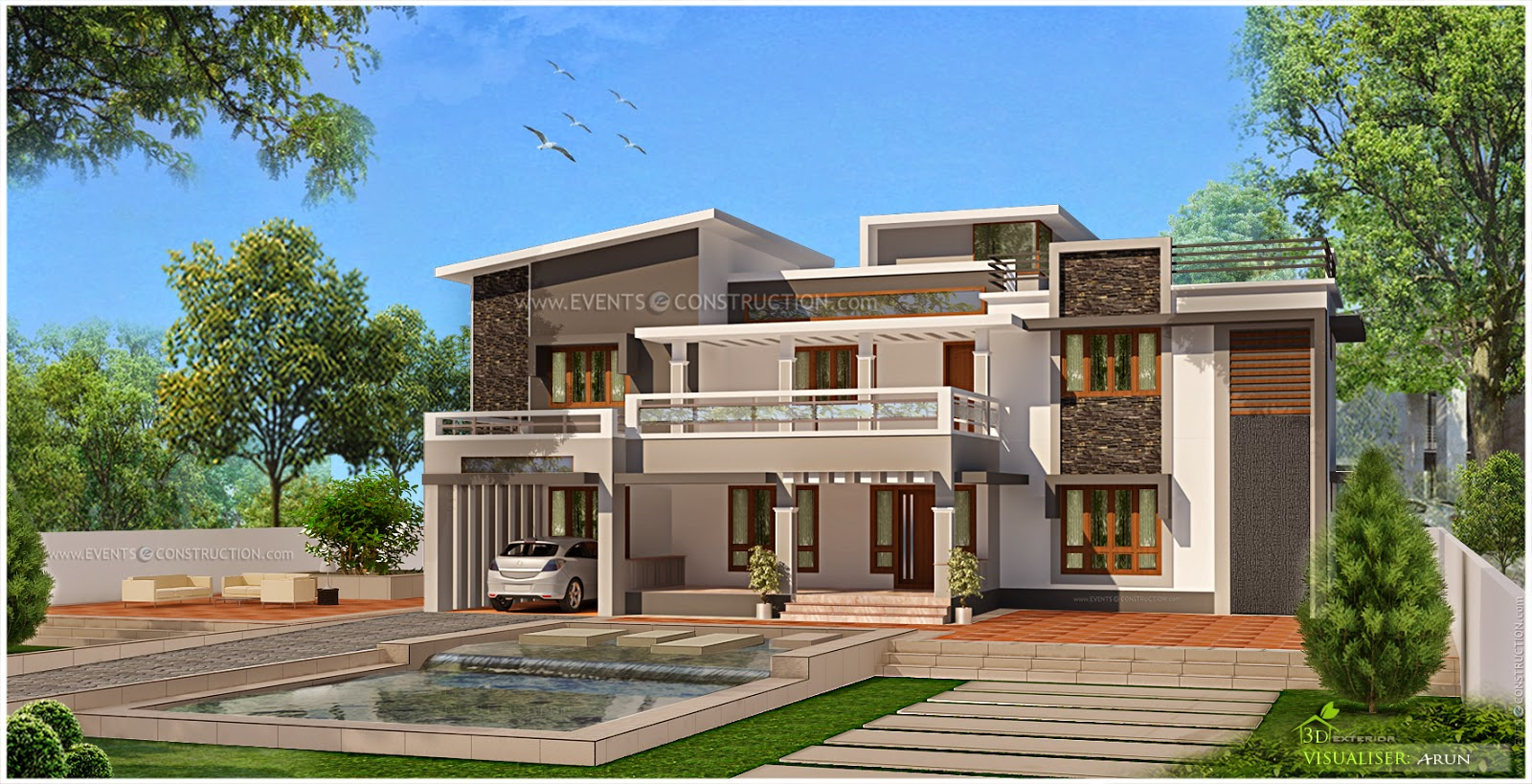 Evens Construction Pvt Ltd Modern Kerala House Plan
