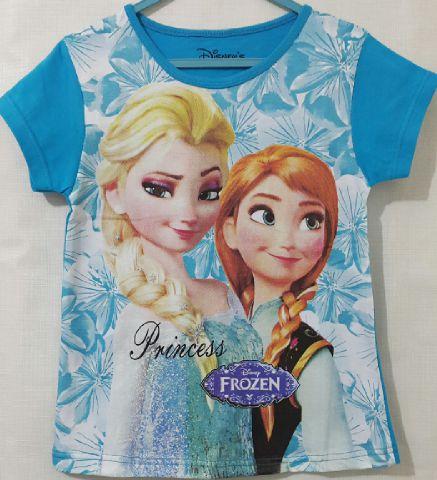 Baju Anak Karakter frozen Biru Size 7 - 10 Y