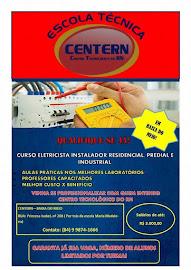 Escola técnica CENTERN> Oferece curso de eletricista istalador residencial, predial e industrial