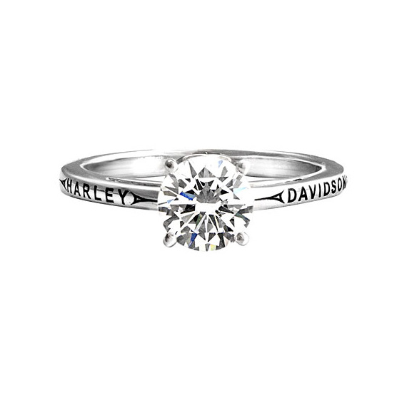 h d filigree flames engagement ring in white goldyellow gold h003 - Harley Davidson Wedding Rings