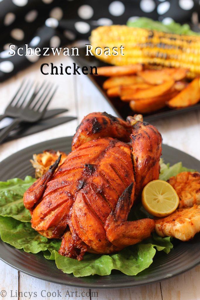 Schezwan Roast Chicken Recipe