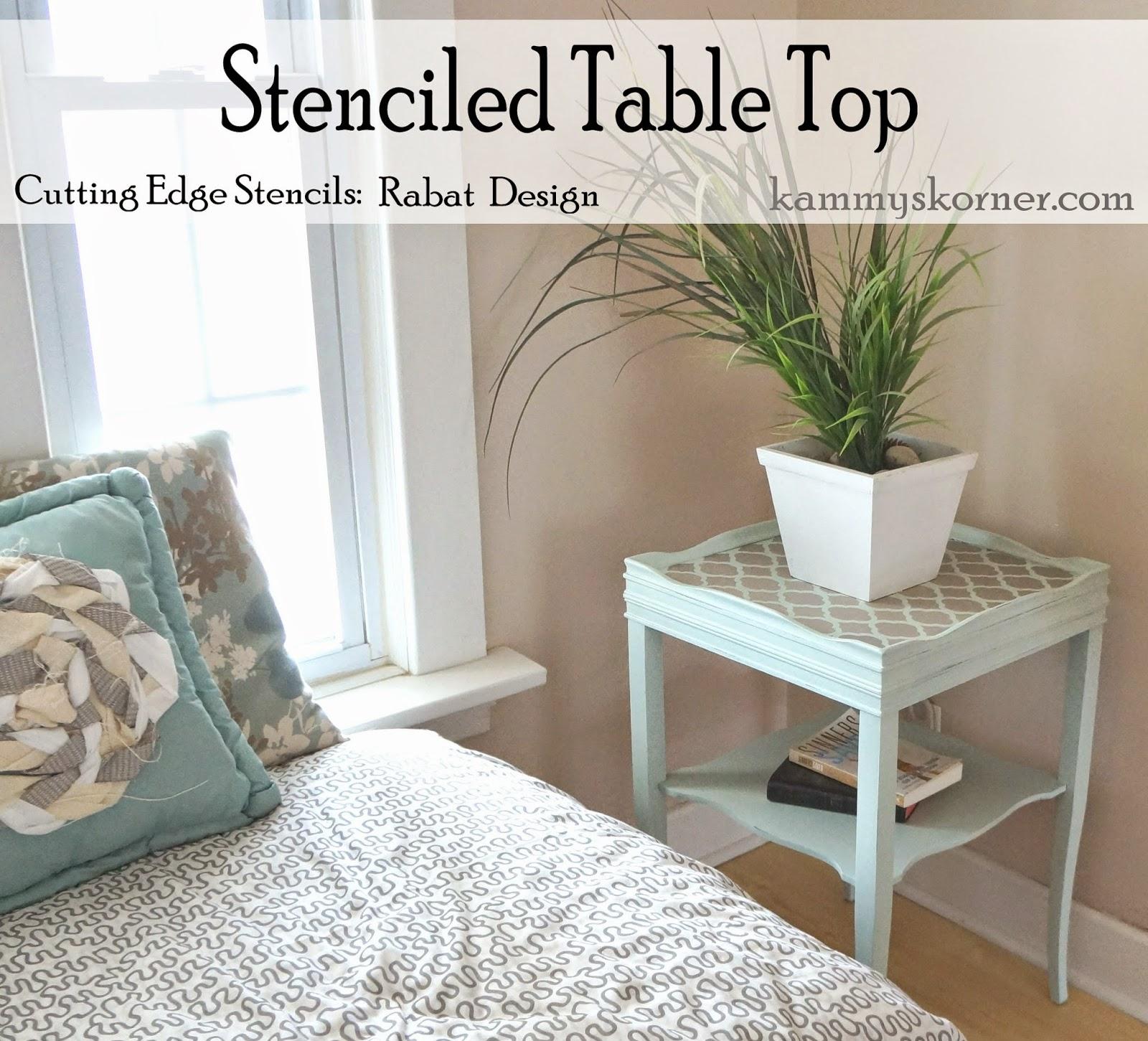 cutting edge furniture. Aqua Side Table {Cutting Edge Stencils} Cutting Furniture