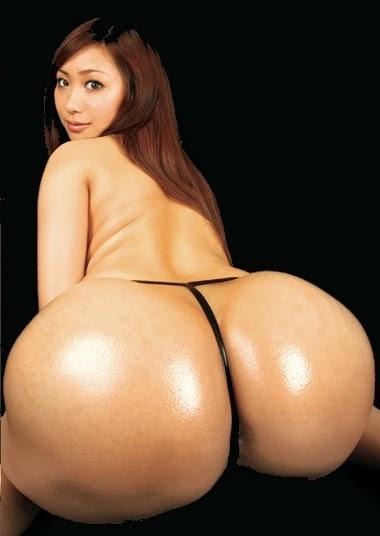 Sexy Asiatin mit dickem Po