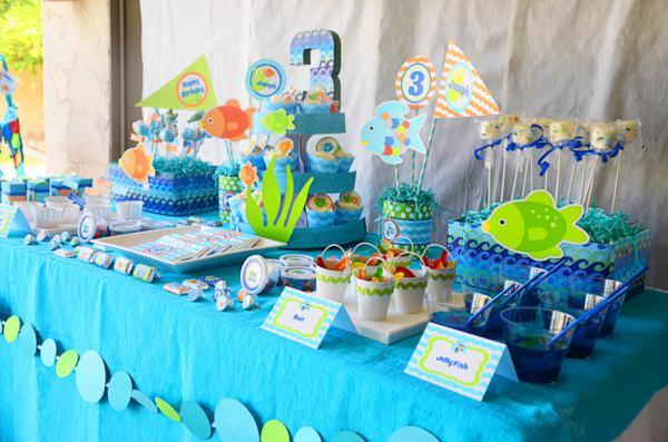 Украшение стола на детский день рождения своими руками фото