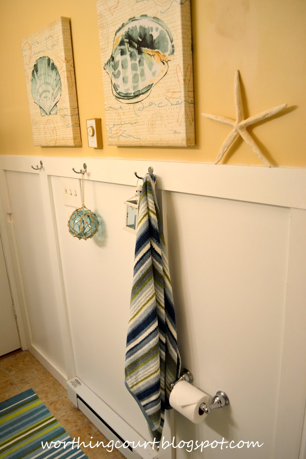 Beach Bathroom Via Worthing Court Blog