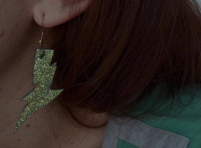DIY - Boucles d'oreilles {Thunderstruck} à paillettes
