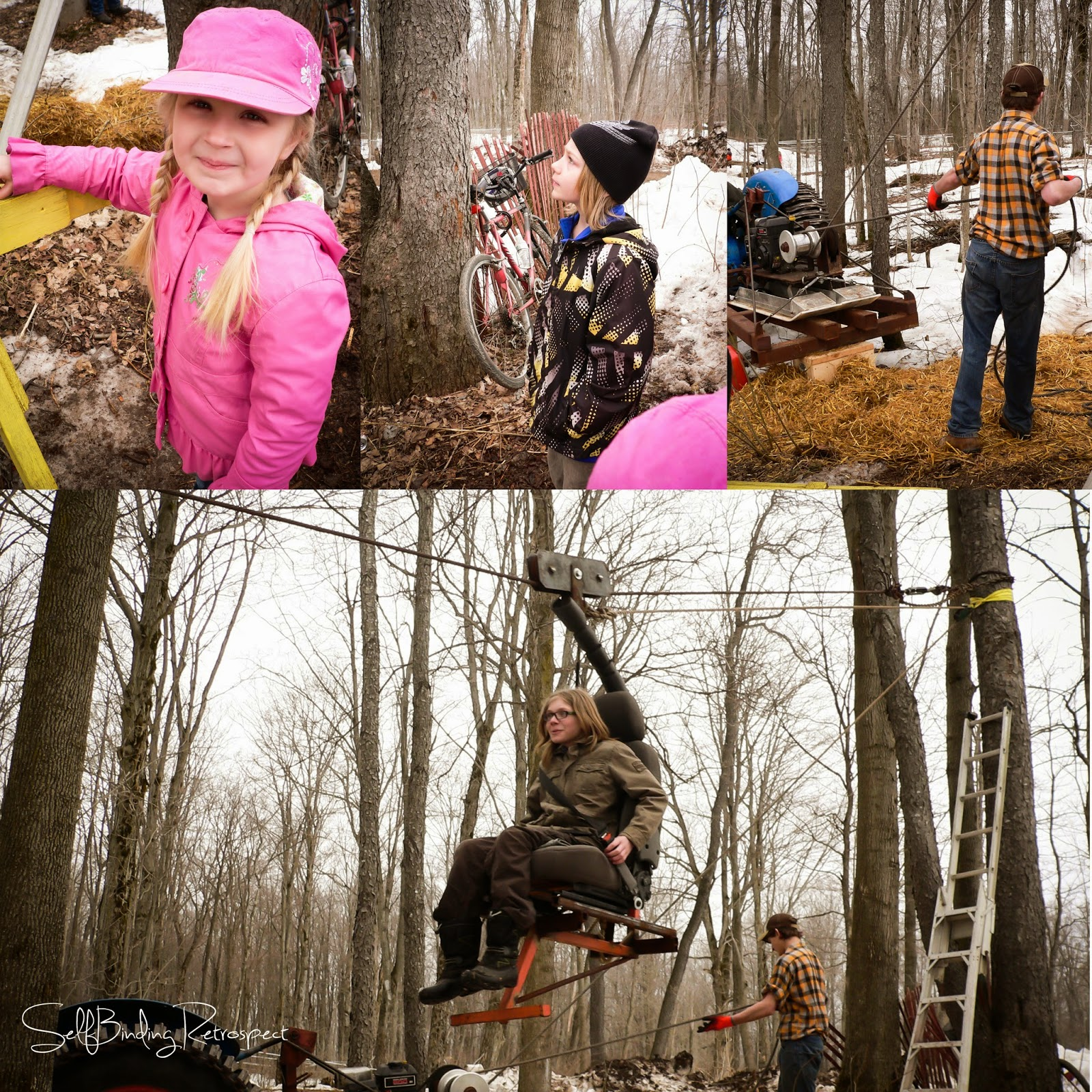 Holstein Maplefest, zipline, cable ride