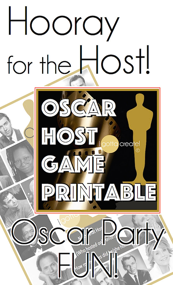 Name that Oscar Host party game printable! FUN!  | Academy Awards game download at I Gotta Create!