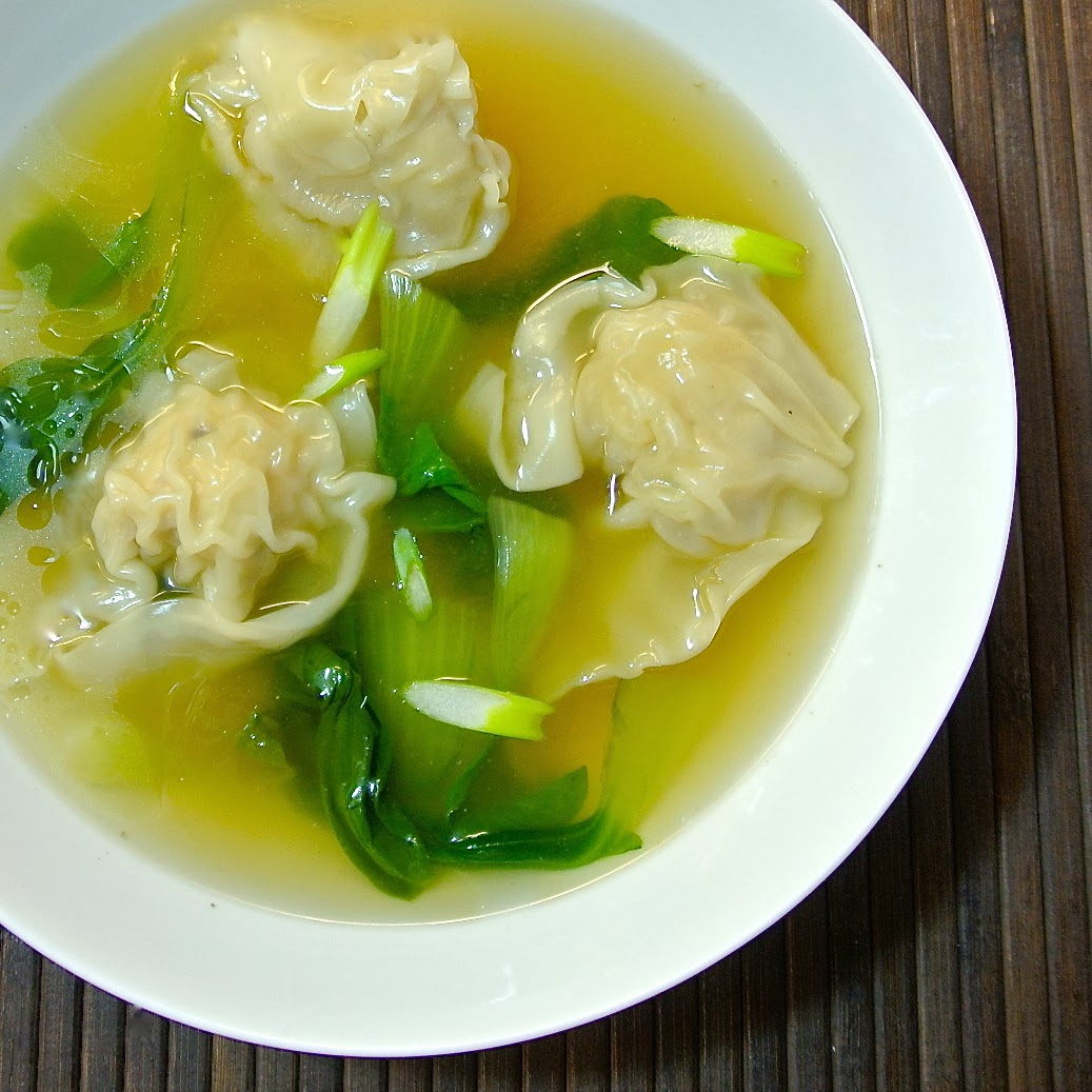 Chicken wonton soup - Culinary Ginger