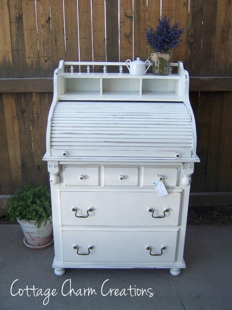 Adorable roll top desk/dresser combo