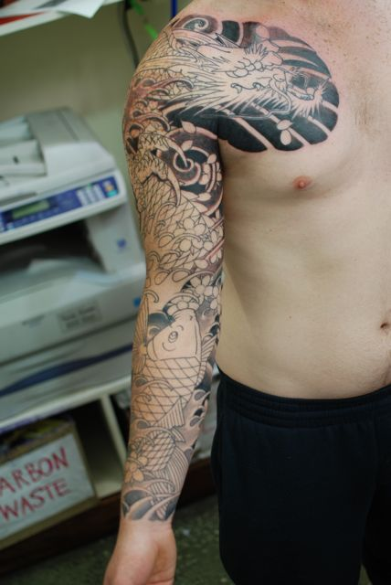 Koi Dragon Tattoo Sleeve