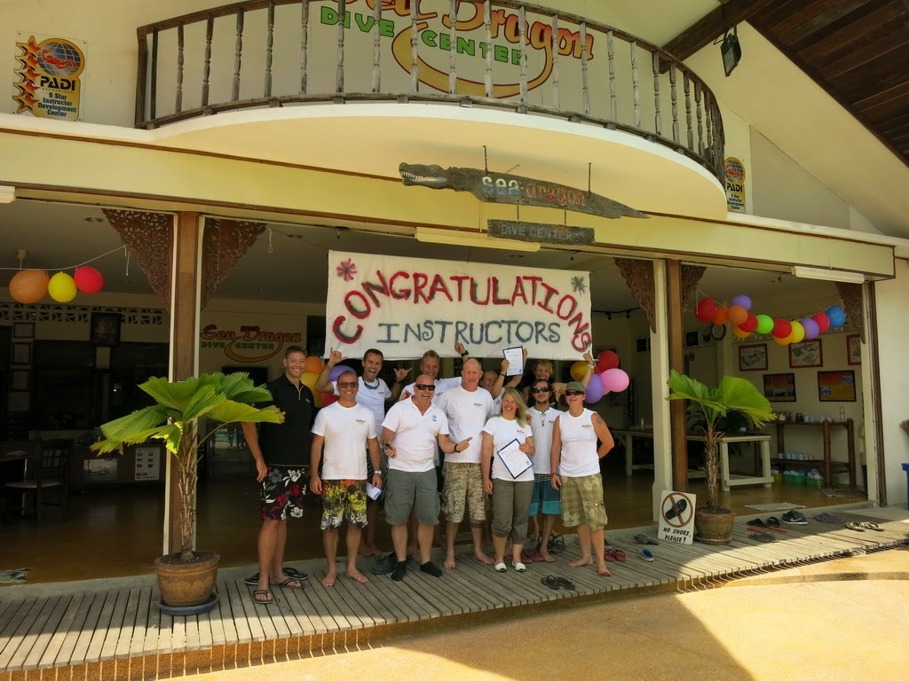 PADI IE in Khao Lak, Thailand April 2015 was successful