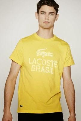 camiseta Lacoste Rio coleção Copa do Mundo Brasil 2014