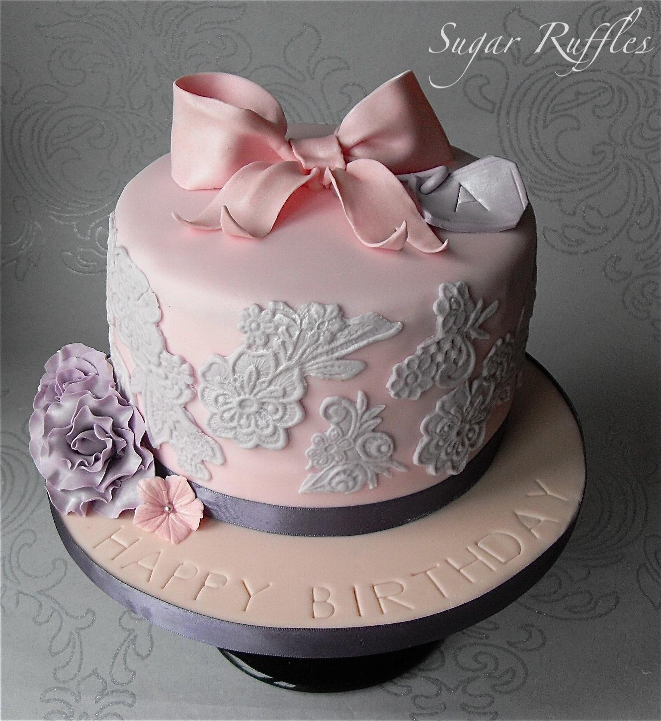 Elegant Buttercream Birthday Cakes Sugar ruffles, elegant wedding ...